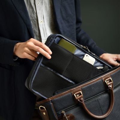 AVECALDO(アベカルド) 着替えも入る バッグインバッグA4 軽量 丈夫 リバーシブル タブレット収納 AV-T152