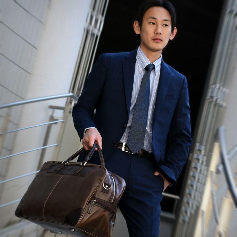 ボストンバッグ メンズ 日本製 ビジネス カジュアル 大容量 出張 1泊 旅行 紳士用 CH-P165